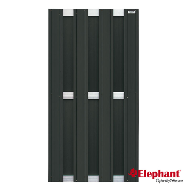 Elephant | Design tuinscherm 90x180 cm | Antraciet/aluminium