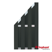 Elephant | Design tuinscherm 90x180/93 cm | Antraciet/aluminium