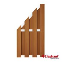 Elephant | Design tuinscherm 90x180/93 cm | Bruin/aluminium