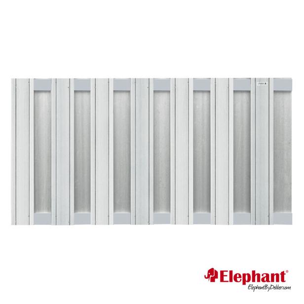 Elephant | Design tuinscherm 180x93 cm | Lichtgrijs
