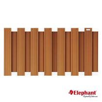 Elephant | Design tuinscherm 180x93 cm | Bruin/aluminium