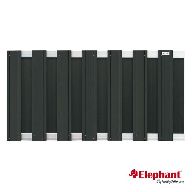 Elephant | Design tuinscherm 180x93 cm | Antraciet/aluminium