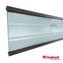 Elephant | Modular Deco lamel | Transparant | Antraciet