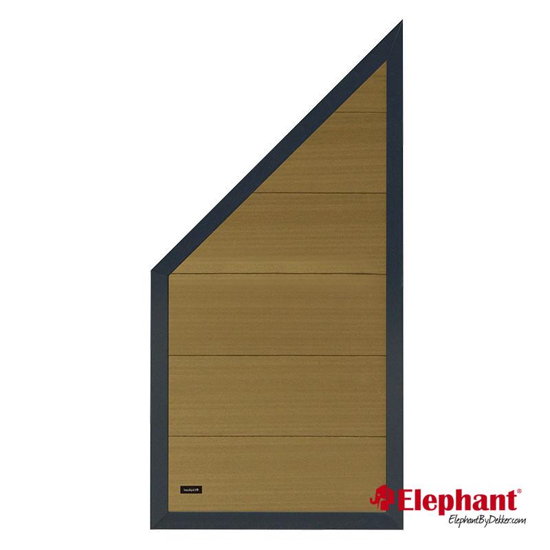 Elephant | Tuinscherm Forte schuin | 90x180-93 cm | Teak-antraciet