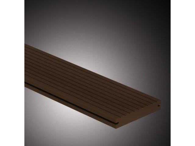 CarpGarant | Massieve composiet vlonderplank | Donker bruin | 390 cm