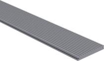 CarpGarant | Massieve composiet vlonderplank extra breed | Licht grijs | 390 cm