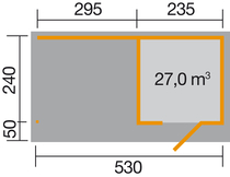WEKA | Designhuis 172 B | 530 x 240 cm