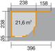 WEKA | Designhuis 213A Gr.1 | 238x396 cm | Grijs