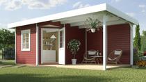 WEKA | Designhuis 213 B | 240 x 540 cm | Zweeds rood