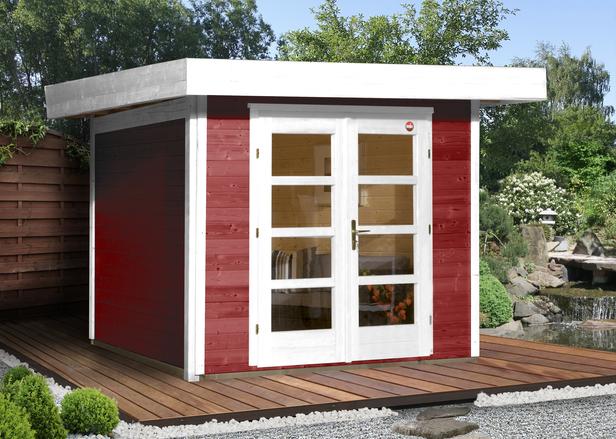 WEKA | Designhuis 126 Gr.1 | 295x210 cm | Zweeds rood