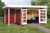WEKA | Designhuis 126 A | 445 x 300 cm | Zweeds rood