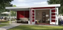 WEKA | Designhuis 126 B | 590 x 300 cm | Zweeds rood