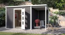 WEKA | Designhuis 'wekaLine' 413A Gr.2 | 450x300 cm | Antraciet