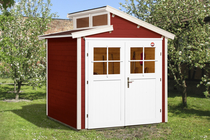 WEKA | Tuinhuis 226 | 205 x 209 cm | Zweeds rood