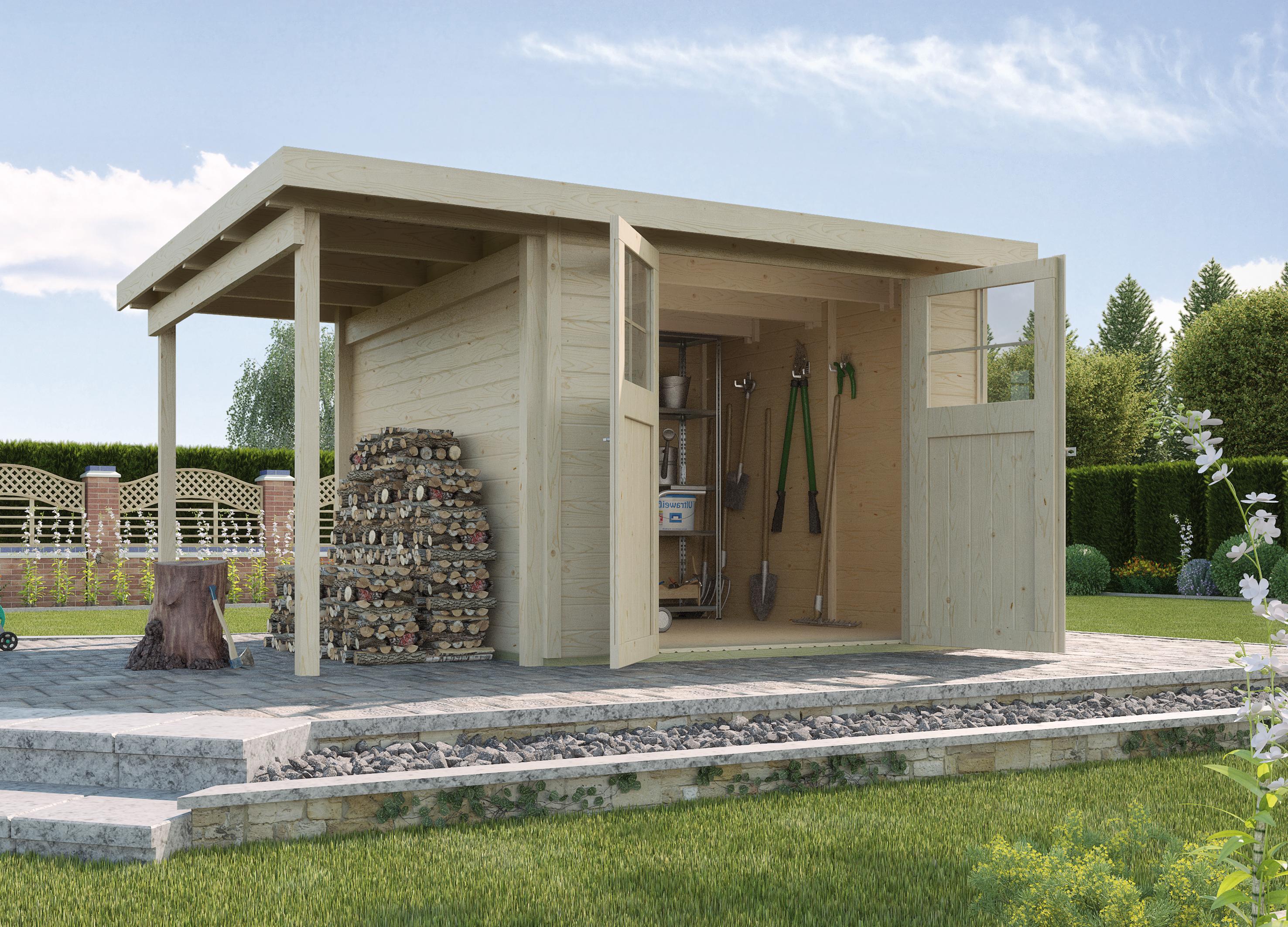 WEKA | Tuinhuis 321 B | 299 x 250 cm + aanbouw 115 cm