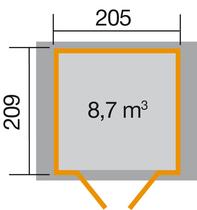 WEKA | Tuinhuis 224 | 205 x 209 cm | Antraciet