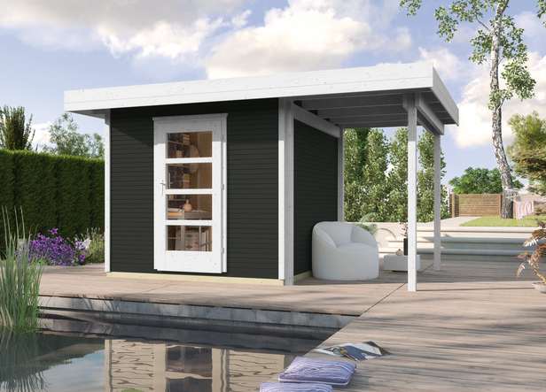 WEKA | Designhuis 'wekaLine' 172A Gr.3 | 445x300 cm | Antraciet