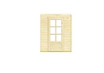 Nubuiten | Inbouwwand 1800 mm + enkele deur (glas)