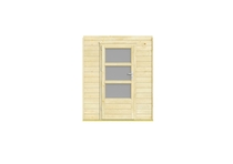 Outdoor Life Products | Inbouwwand 1800 mm + enkele deur (mat glas)