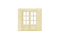 Outdoor Life Products | Inbouwwand 2300 mm + dubbele deur (glas)
