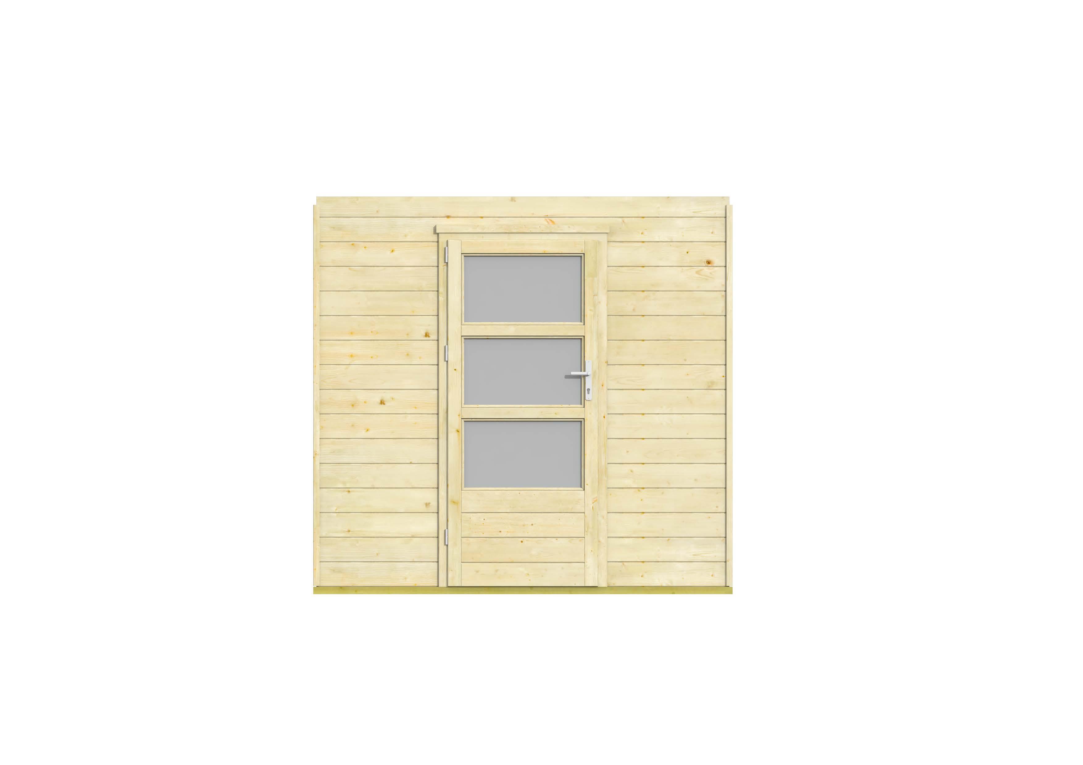 Met deze voorwand met dubbel rhombusprofiel en dubbele deur maakt u uw