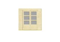 Nubuiten | Inbouwwand 2300 mm + dubbele deur (mat glas)