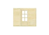 Nubuiten | Inbouwwand 2800 mm + dubbele deur (glas)