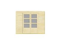 Nubuiten | Inbouwwand 2800 mm + dubbele deur (mat glas)
