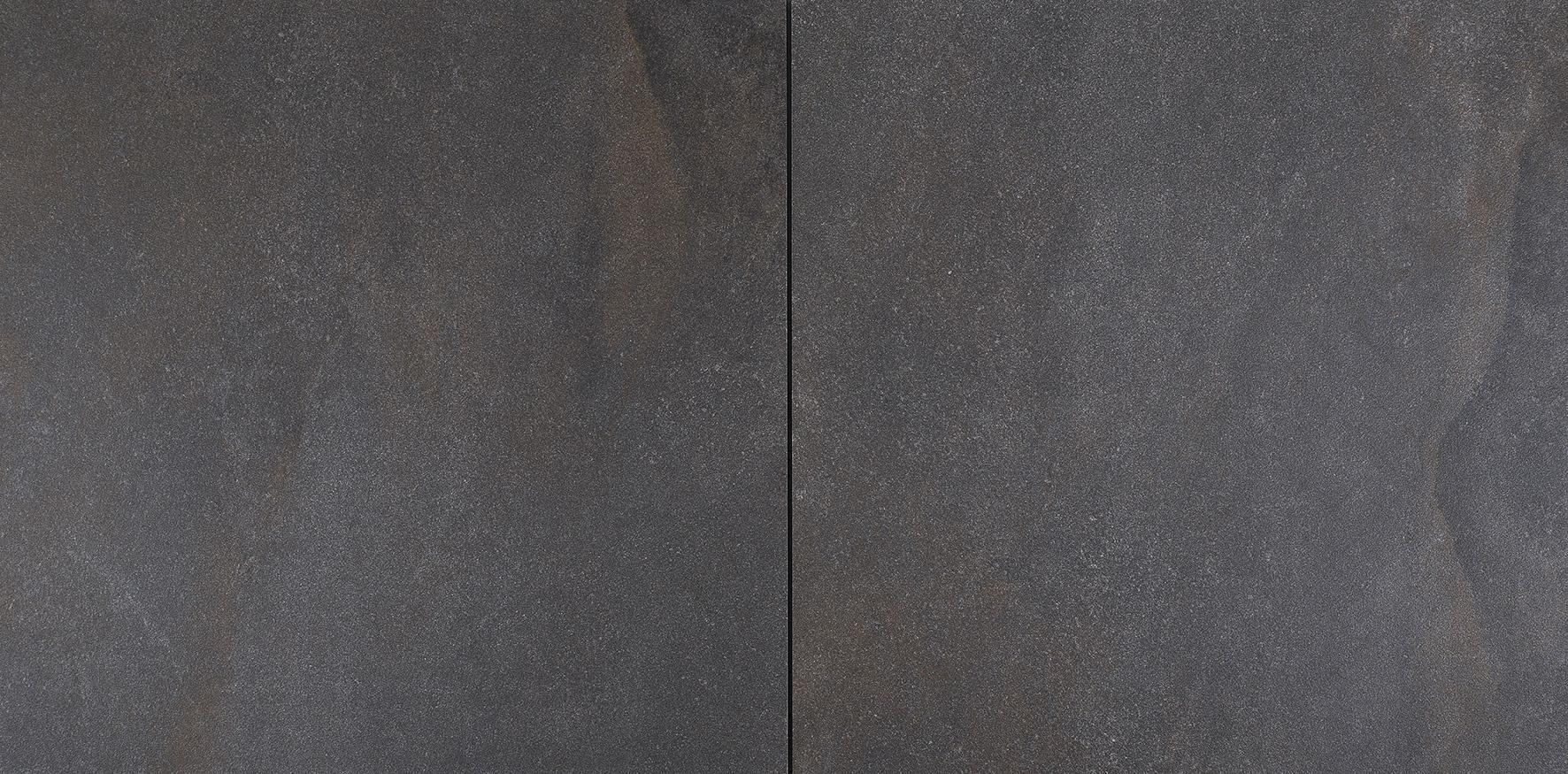 Gardenlux | Cera4line light 60x60x4 | Flamed Black/Brown