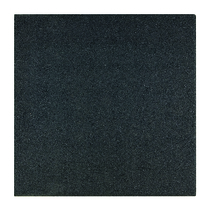 Gardenlux   Rubber speelplaatstegel met steekverbinding 50x50x3 cm   Zwart