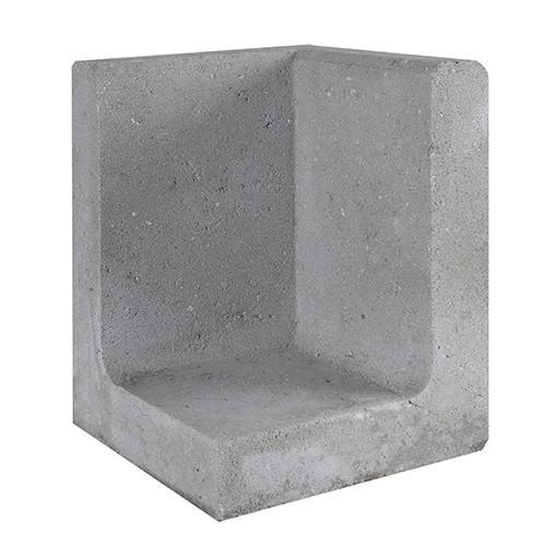 Gardenlux | L-element | Hoek | 30 x 30 x 50 cm | Grijs