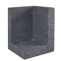 Gardenlux | L-element | Hoek | 30 x 30 x 50 cm | Zwart