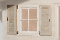 WEKA | Raamluik voor raam 69 x 79 cm | Tweezijdig