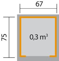WEKA | Garage voor maairobot 367 | Antraciet