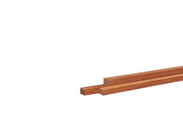 Kenmerken type: hardhout geschaafd nettomaat: 9x 9mm lengte: 240 cm goed te verlijmen/schroeven/sp...
