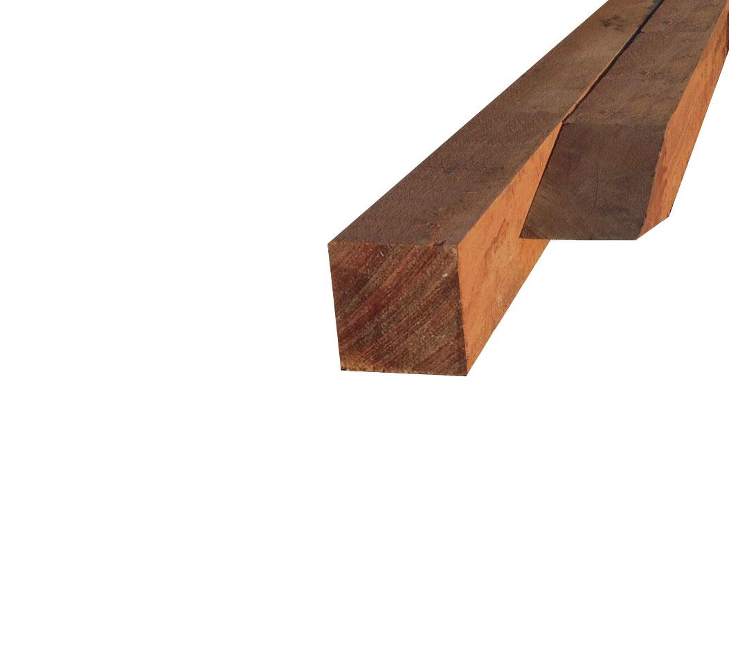 Productbeschrijving hardhouten paal 90 x 90mm azobé  is verkrijgbaar in verschillende lengtes. de hardhouten ...