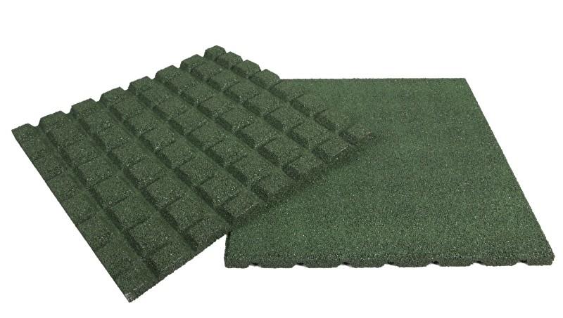 Rubbertegel | 50 x 50 x 4,5 cm | Groen