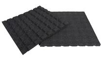 Rubbertegel | 50 x 50 x 4,5 cm | Zwart