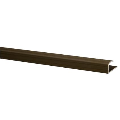 JéWé | Eindprofiel aluminium 30x9 mm 95 cm | 6 stuks | Brons