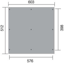 WEKA | Y-Carport 618 | Dubbel | 576 x 398 cm