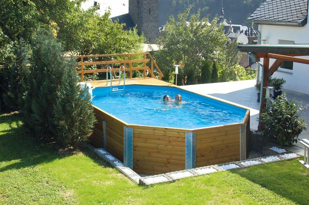 WEKA | Zwembad 594 Gr.1 | 376x714 cm | Voordeelset
