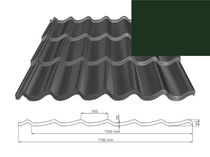 ArchelorMittal | Dakpanplaat Kingstile | Groen | 500 mm