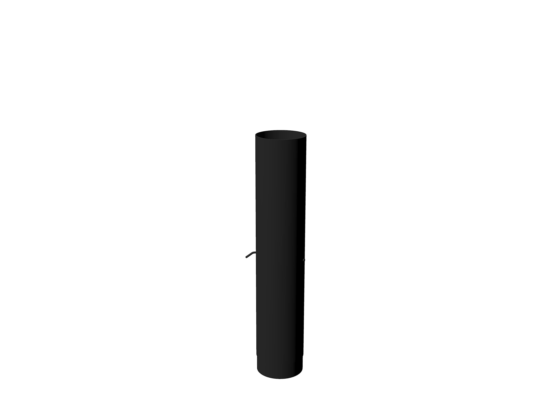 Potmaat I Rookkanaal met demper 154 x 750 mm Zwart