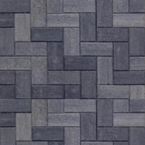 Excluton | Betonstraatsteen 21x10.5x6 | Grijs/zwart