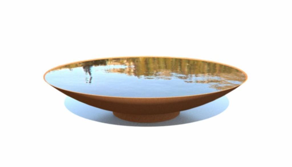 Adezz | waterschaal Ø 200 x 31 cm corten staal