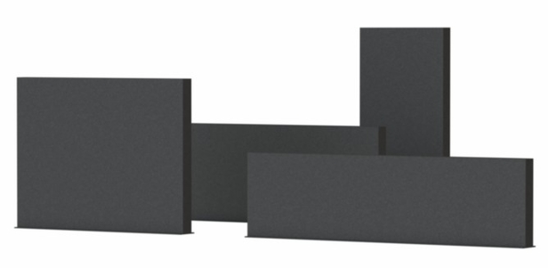 Adezz | Aluminium wand | 200 x 15 x 135 cm