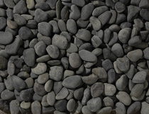Excluton | Beach pebbles antraciet 40-60 mm | 25 kg