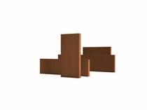 Adezz | Onbehandel staal wand | 400 x 15 x 100 cm