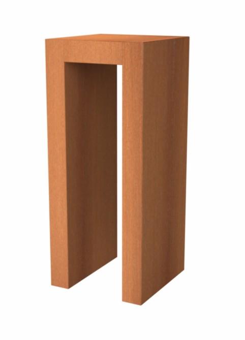 Adezz | Onbehandeld staal U- sokkel | 40 x 40 x 60 cm