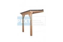 Pext | Veranda Douglas Duplo geschaafd | Opaal | 306x200 | Muuraanbouw